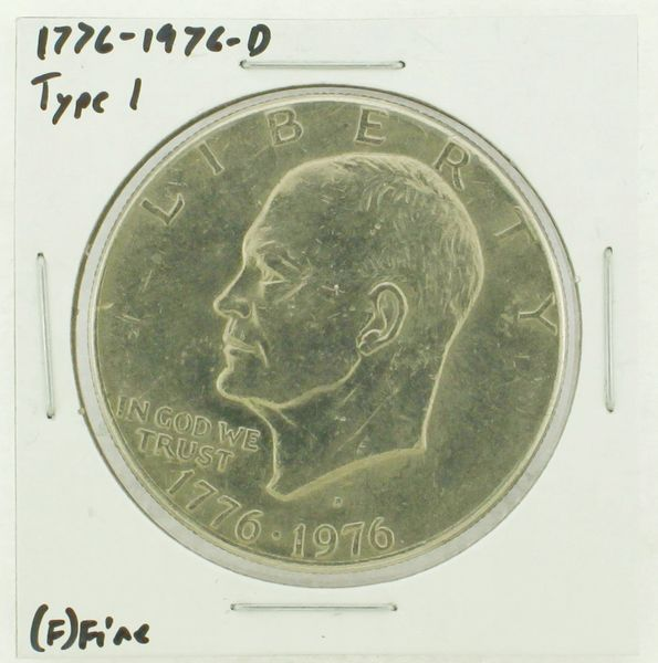 1976-D Type I Eisenhower Dollar RATING: (F) Fine (N2-4044-16)