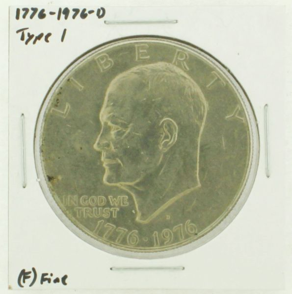 1976-D Type I Eisenhower Dollar RATING: (F) Fine (N2-4044-18)
