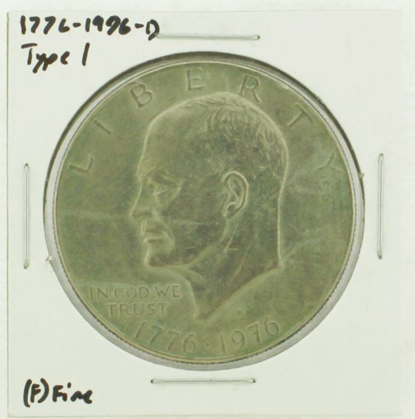 1976-D Type I Eisenhower Dollar RATING: (F) Fine (N2-4044-19)