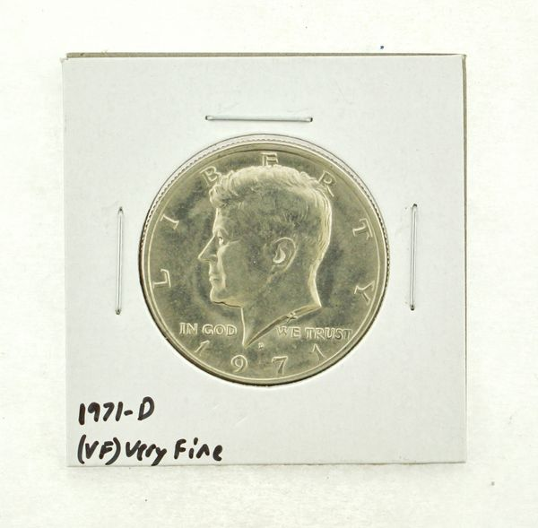 1971-D Kennedy Half Dollar (VF) Very Fine N2-3450-3