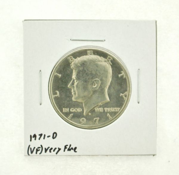 1971-D Kennedy Half Dollar (VF) Very Fine N2-3450-7