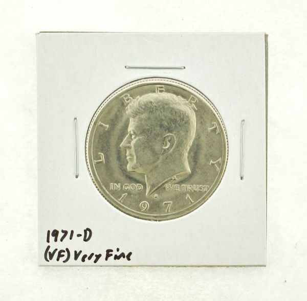 1971-D Kennedy Half Dollar (VF) Very Fine N2-3450-9