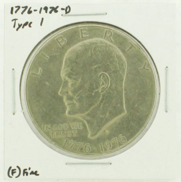 1976-D Type I Eisenhower Dollar RATING: (F) Fine (N2-4044-25)