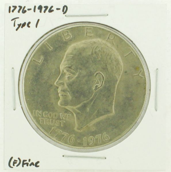 1976-D Type I Eisenhower Dollar RATING: (F) Fine (N2-4044-28)