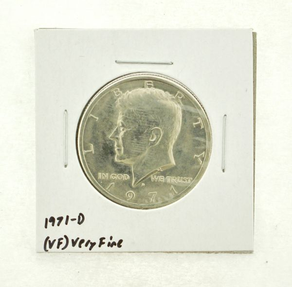 1971-D Kennedy Half Dollar (VF) Very Fine N2-3450-11