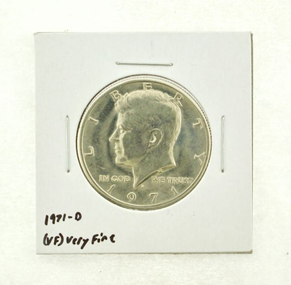 1971-D Kennedy Half Dollar (VF) Very Fine N2-3450-16