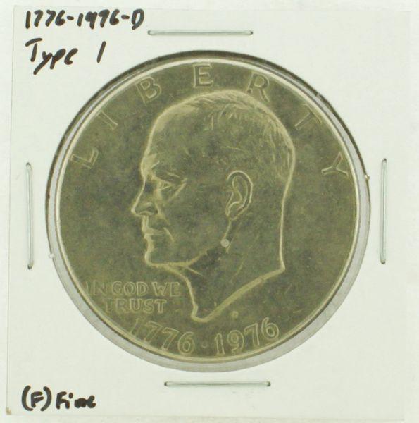 1976-D Type I Eisenhower Dollar RATING: (F) Fine (N2-4044-36)