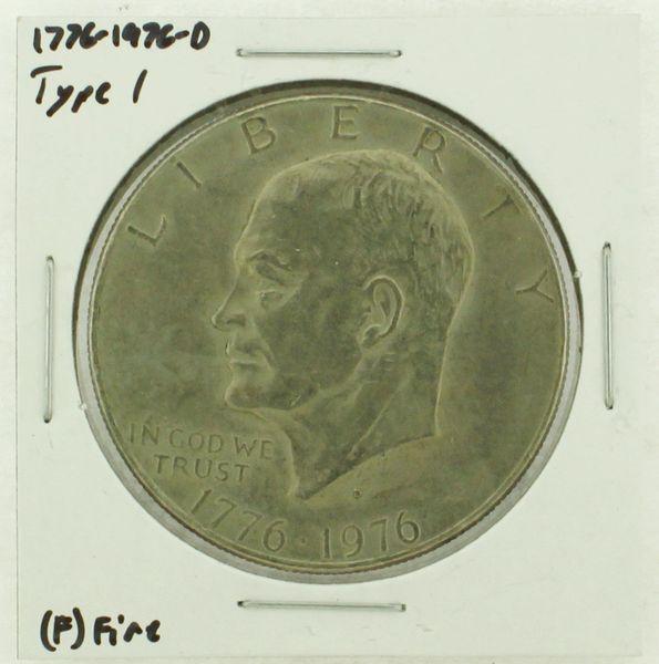 1976-D Type I Eisenhower Dollar RATING: (F) Fine (N2-4044-37)