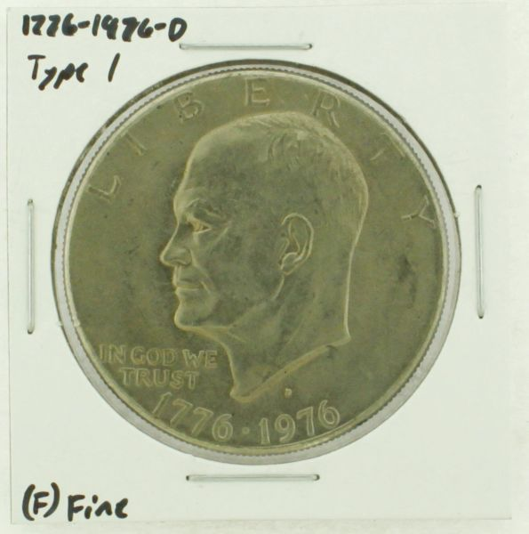 1976-D Type I Eisenhower Dollar RATING: (F) Fine (N2-4044-38)