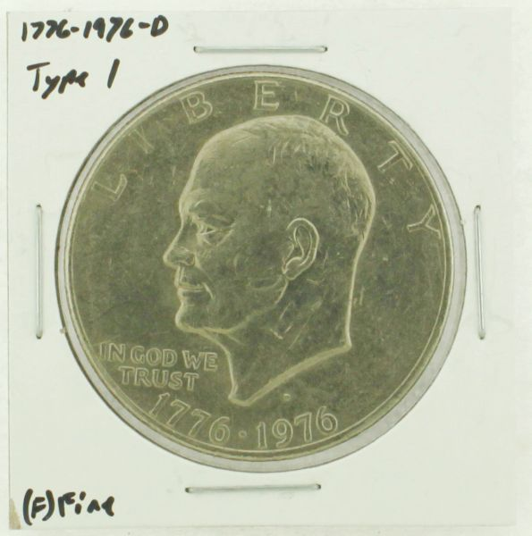 1976-D Type I Eisenhower Dollar RATING: (F) Fine (N2-4044-44)