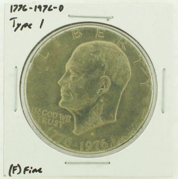 1976-D Type I Eisenhower Dollar RATING: (F) Fine (N2-4044-45)