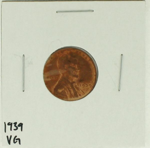 1939 United States Lincoln Wheat Penny Rating (VG) Very Good
