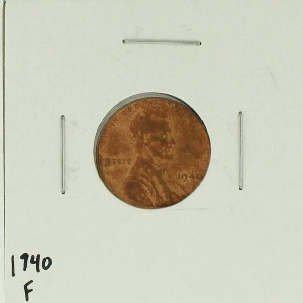 1940 United States Lincoln Wheat Penny Rating (F) Fine