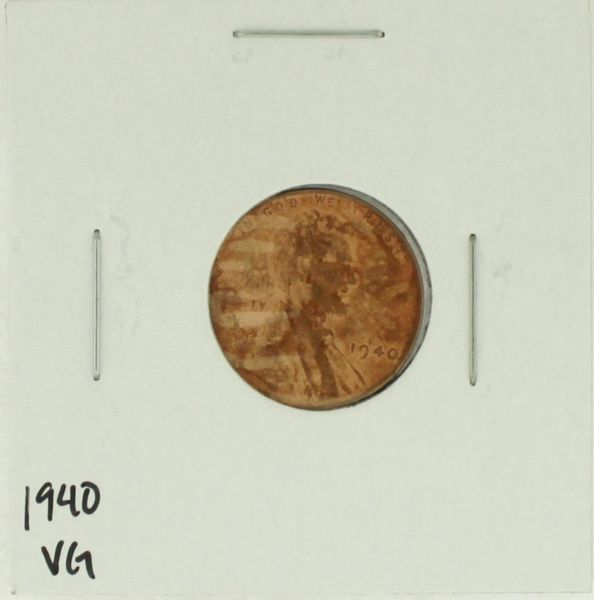 1940 United States Lincoln Wheat Penny Rating (VG) Very Good