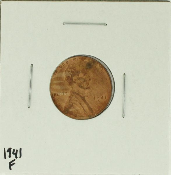 1941 United States Lincoln Wheat Penny Rating (F) Fine