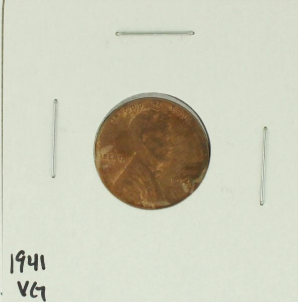 1941 United States Lincoln Wheat Penny Rating (VG) Very Good