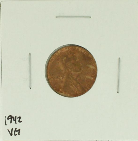 1942 United States Lincoln Wheat Penny Rating (VG) Very Good