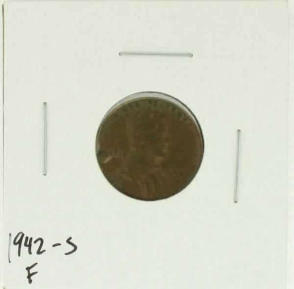 1942-S United States Lincoln Wheat Penny Rating (F) Fine
