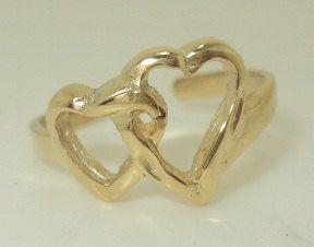 Open Double Heart Toe Ring (JC-646)