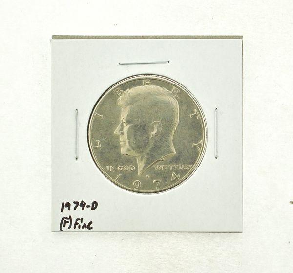 1974-D Kennedy Half Dollar (F) Fine N2-3668-9