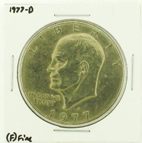 1977-D Eisenhower Dollar RATING: (F) Fine (N2-4209-12)