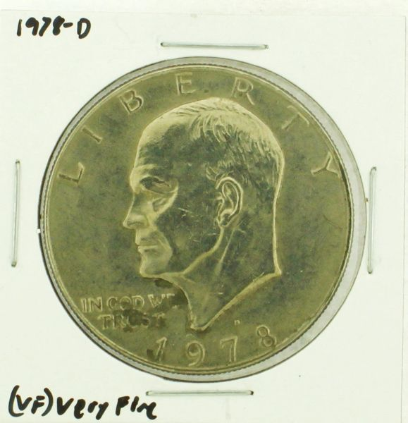 1978-D Eisenhower Dollar RATING: (VF) Very Fine (N2-4263-04)