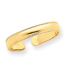 Mill Grain Adjustable Toe Ring (JC-796)