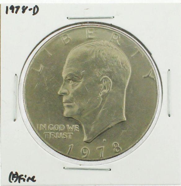1978-D Eisenhower Dollar RATING: (F) Fine (N2-4297-01)