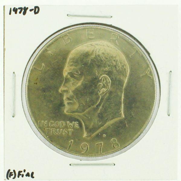 1978-D Eisenhower Dollar RATING: (F) Fine (N2-4297-05)