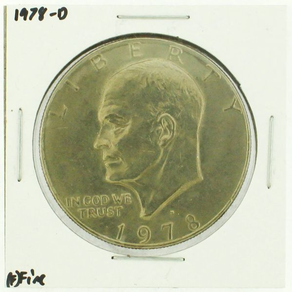 1978-D Eisenhower Dollar RATING: (F) Fine (N2-4297-07)
