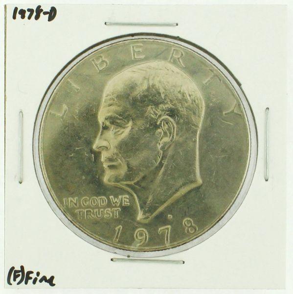 1978-D Eisenhower Dollar RATING: (F) Fine (N2-4297-08)