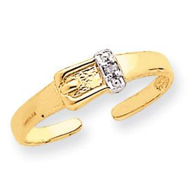 Diamond Buckle Toe Ring (JC-835)