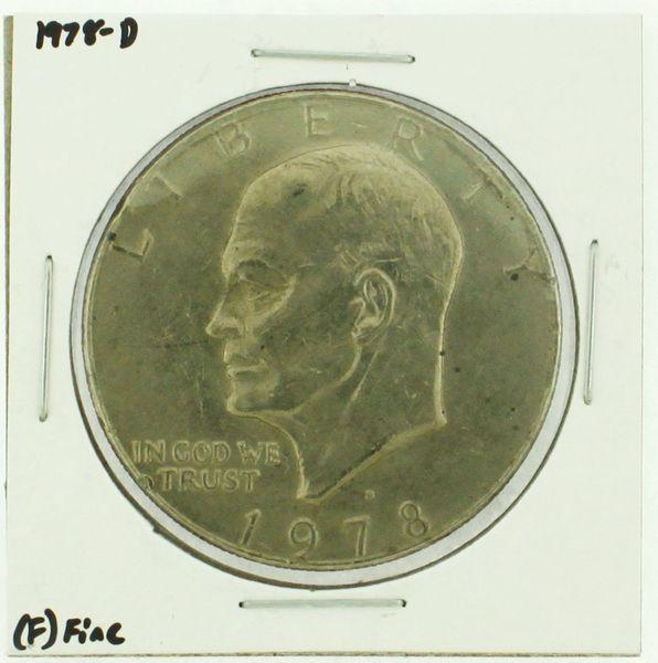 1978-D Eisenhower Dollar RATING: (F) Fine (N2-4297-16)