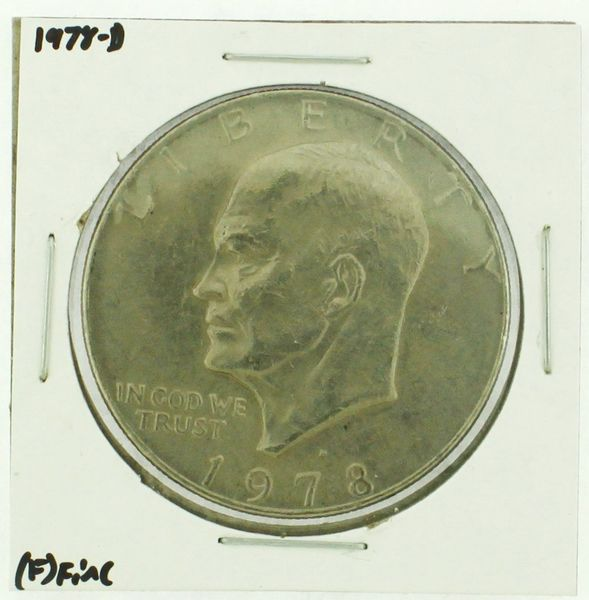 1978-D Eisenhower Dollar RATING: (F) Fine (N2-4297-21)