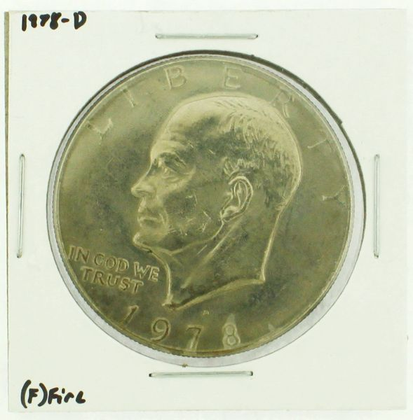 1978-D Eisenhower Dollar RATING: (F) Fine (N2-4297-23)