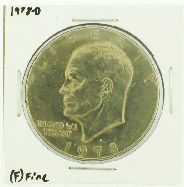 1978-D Eisenhower Dollar RATING: (F) Fine (N2-4297-30)
