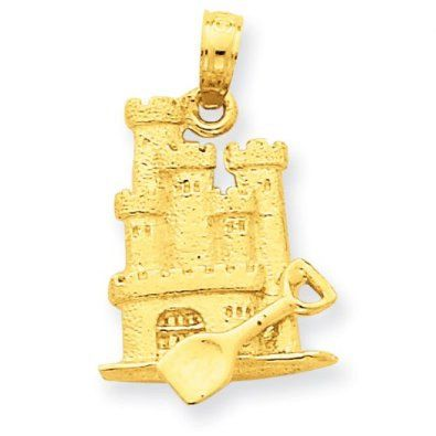 3-D Sandcastle with Shovel Pendant (JC-841)