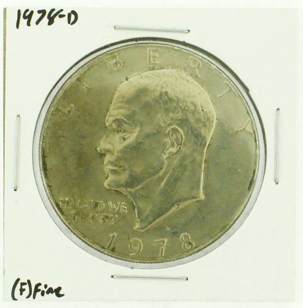 1978-D Eisenhower Dollar RATING: (F) Fine (N2-4297-31)