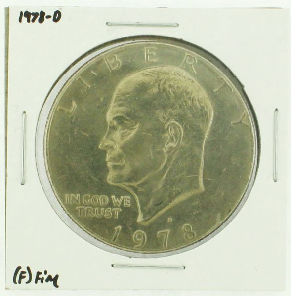 1978-D Eisenhower Dollar RATING: (F) Fine (N2-4297-33)