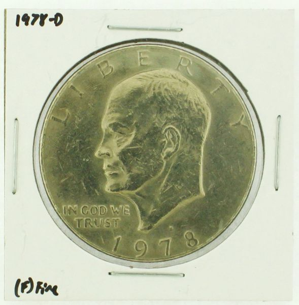 1978-D Eisenhower Dollar RATING: (F) Fine (N2-4297-34)