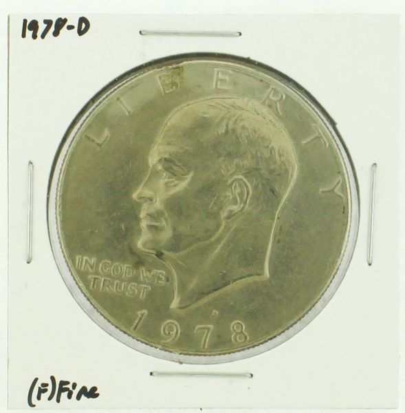 1978-D Eisenhower Dollar RATING: (F) Fine (N2-4297-35)