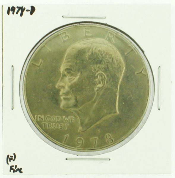 1978-D Eisenhower Dollar RATING: (F) Fine (N2-4297-38)