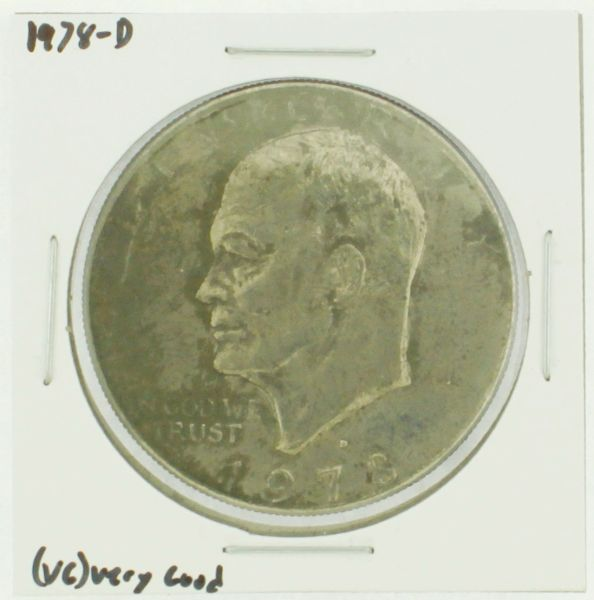 1978-D Eisenhower Dollar RATING: (F) Fine (N2-4340-08)
