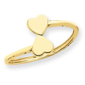 Double Heart Toe Ring (JC-886)