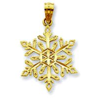 Diamond-Cut Snowflake Pendant (JC-982)