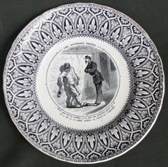 "19th C French J VIEILLARD Bordeaux Transfer ware Plate""Analyze Emerging Taxes"""