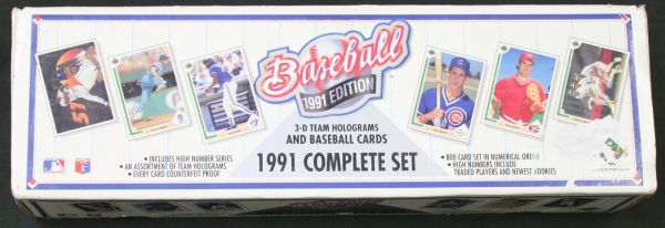 Upper Deck 1991 Sealed Box Of 800 Baseball Cards 3d Team Holograms Complete Set