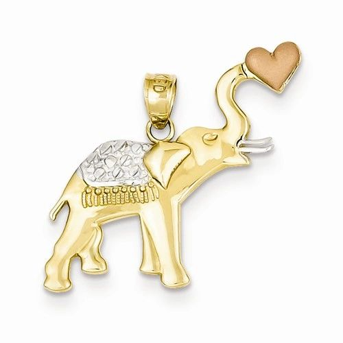 Elephant with Heart Pendant (JC-1148)