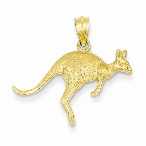 Textured Kangaroo Pendant