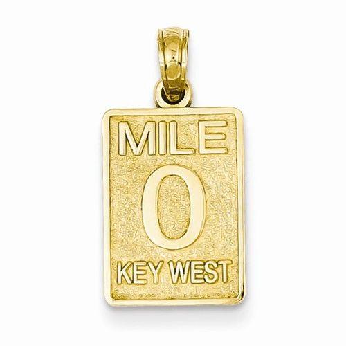 Mile 0 Key West Mile Marker Pendant (JC-1098)